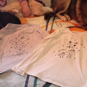4/$20 2 George Long sleeve t-shirts